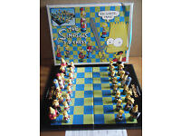 (The Simpsons 3D Chess Set) . By 20th Century Fox 1997. Excellent and complete.