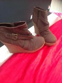 Gorgeous wedges, size 7 from Rebel London