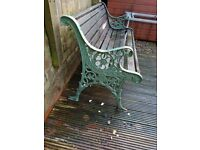Garden seat cast iron ends
