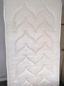 Single bedbase with mattress