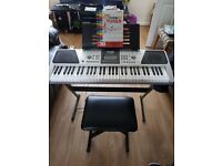 RockJam Keyboard with stand and stool