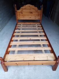 SINGLE WOOD BED