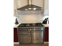 Rangemaster Elise 110 dual fuel range cooker with extractor hood - excellent condition