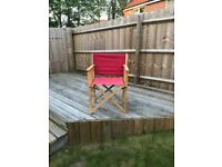 Wooden Camping Chair x 2