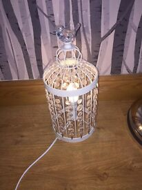 Chic birdcage pendant table lamp