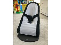BABYBJÖRN Bouncer Balance Soft (Black/Dark grey, Cotton) - excellent condition