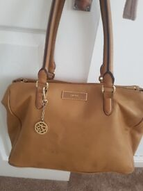 Tan dkny leather bag