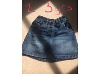 Next Girks Denim Skirt Age 2-3