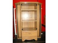 Pine Finish Media TV Cabinet. Great Quality and Condition