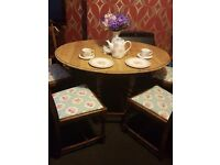 Beautiful original 1930s Oak barley twist dining table with 4 matching chairs