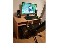 "Full desktop PC, PC Specialist Vortex Inferno base unit, Samsung 27"" Monitor, Razor Mouse & Keyboard"