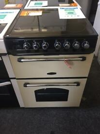 New / graded electric 60cm wide double oven with 12 month warranty!!!!