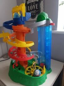 My first thomas the train rail rollers spiral station