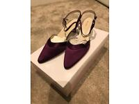 New rainbow shoes dyed purple size 6.5 style Annie