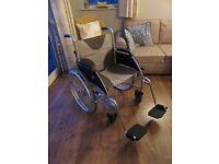 Lightweight aluminiuim 20 inch wheelchair