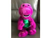 Plush Barney toy