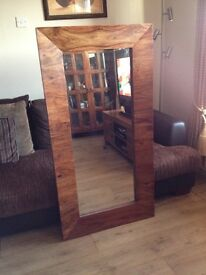 Solid wood mirror REDUCED To CLEAR