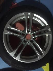 BMW Msport wheels and tyres