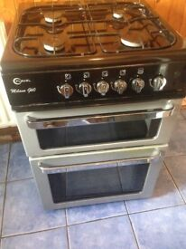 Milano black gas cooker 60cm......Free delivery