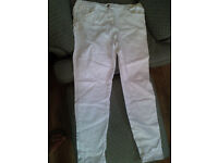 Size 18 Ladies White Jeans distressed