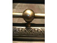 Victorian Fireplace Fender Brass Cast Iron