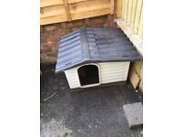 Plastic cat or dog kennel