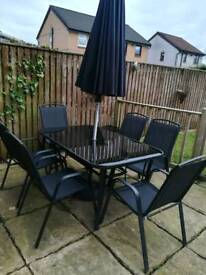 6 seater garden table and chairs