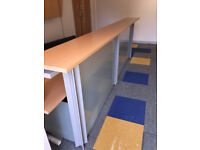 Reception Desk with Panel