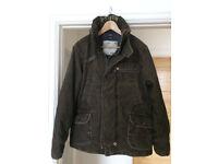 G-Star Raw Mash JKT Brown Corduroy Winter Coat Size Large Mens
