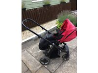Oyster Pram with carrycot and pushchair seat