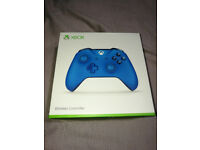 Official Microsoft XBOX One wireless controller 3.5mm jack in Vortex Blue BNIB