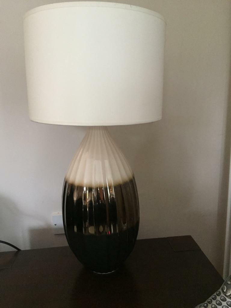 Table Lamp Brown Beige Cream Cream Shade