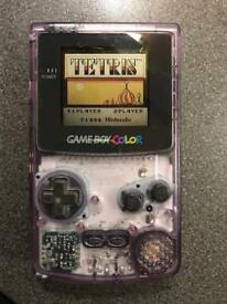 Original Game Boy Color with Tetris