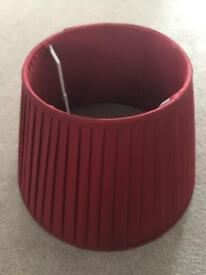 Cranberry pleated lampshade
