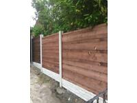All types of All types of fencing panels wooden or concrete posts & bases