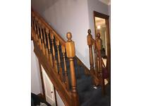 Solid wood balustrade