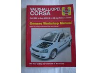 Vauxhall Corsa/opel Owners Workshop Manual