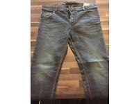 Diesel Men's Light Blue Krayver Jeans, Regular Slim Carrot Fit 34W 34L - Collection Only