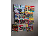 16 classic football annuals 1960s - 2000s