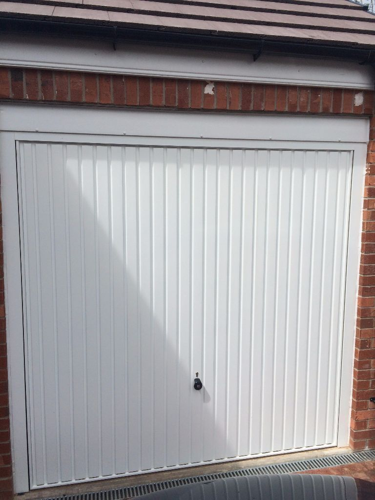 Hormann white single up and over garage door 7 39 x 7 39 in for Coventry garage doors