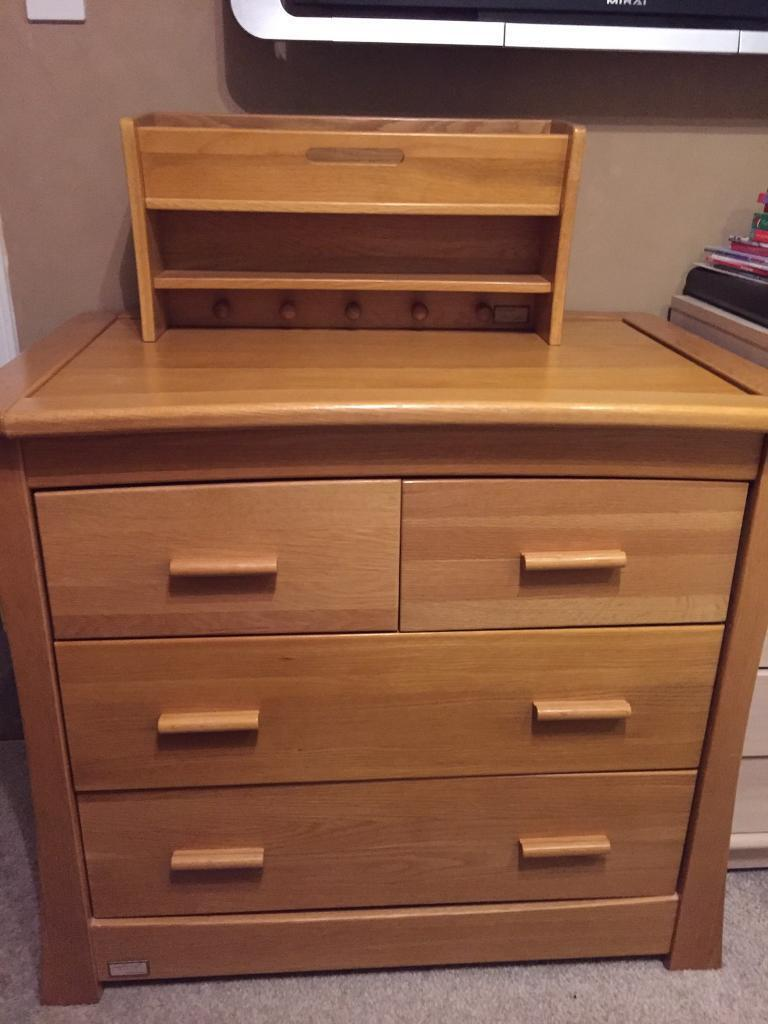 Mamas And Papas Ocean Spring Oak Drawers Baby Changing
