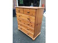 Pine chest or draws