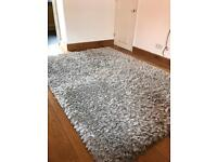Silver grey top quality plush fluffy rug