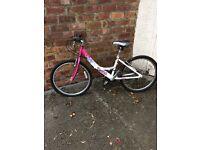 Girls 21 inch pink & white bike