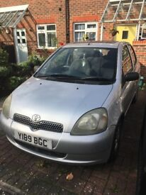 Well looked after 5 door Toyota Yaris 998, cheap insurance best for a new driver