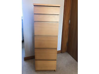 Ikea MALM Chest of 6 drawers.