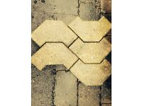 Unusual c shape block paving