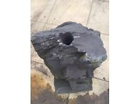 Pre drilled slate water feature