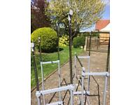 Fully adjustable double clothes rails