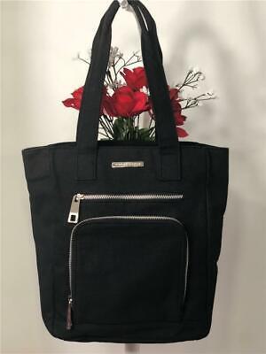 Marc Jabobs Black Hemp Liked Fabric Lightweight Small Tote Bag